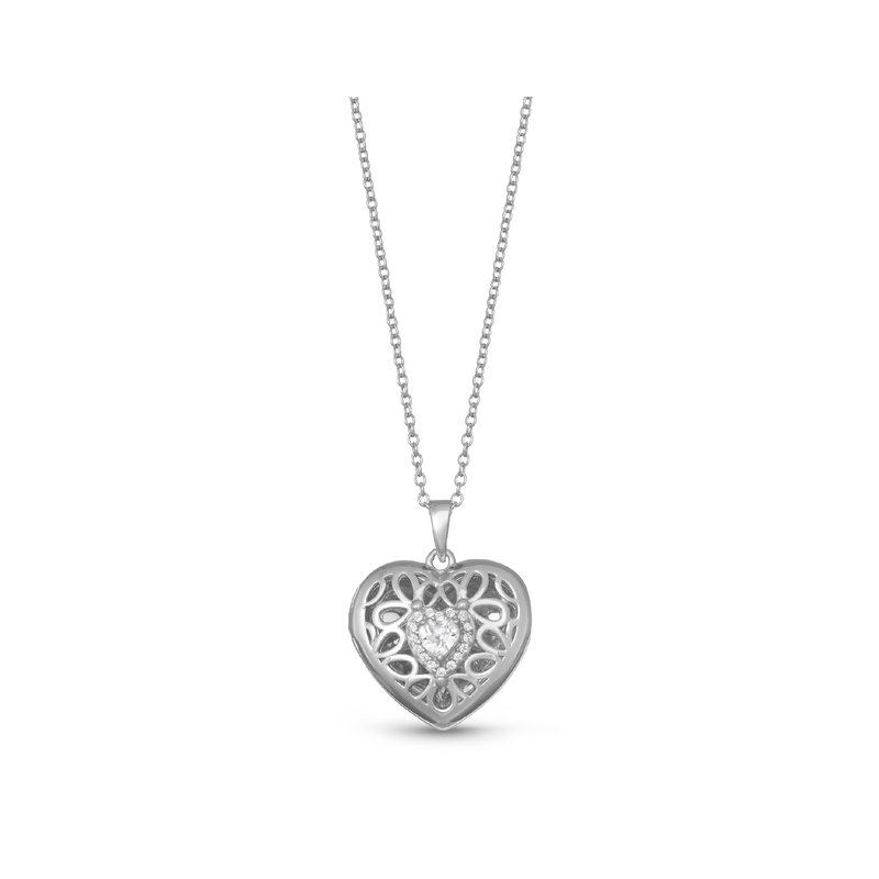 With You Lockets Katharine Locket Necklace Silver