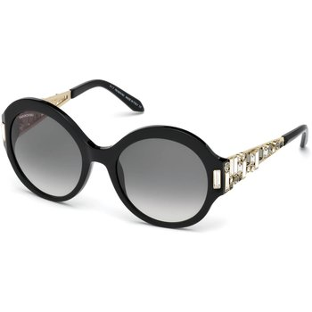 Nile Round Sunglasses, SK162-P 01B, Black