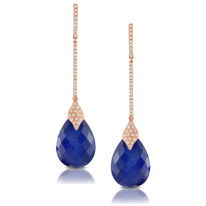 Doves Royal Lapis & Diamond Earrings