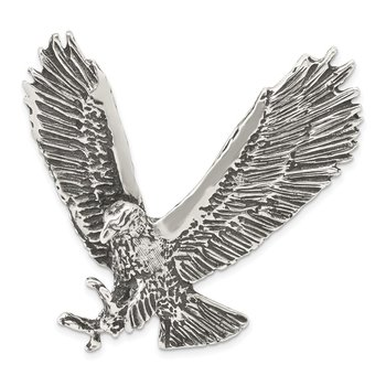 Sterling Silver Antiqued & Textured Eagle Chain Slide