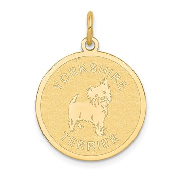 14k Yorkshire Terrier Disc Charm
