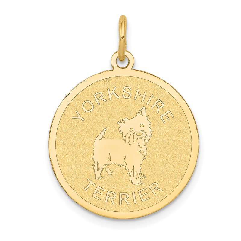 Quality Gold 14k Yorkshire Terrier Disc Charm