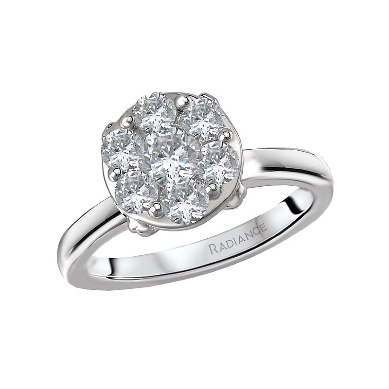 Radiance Radiance Halo Diamond Ring