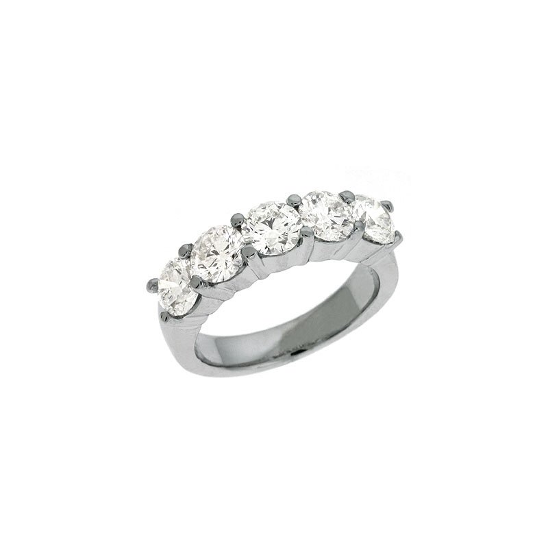 S. Kashi & Sons Bridal Platinum Prong Set Band