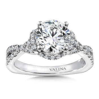 Diamond Engagement Ring Mounting in 14K White Gold (.515 ct. tw.)