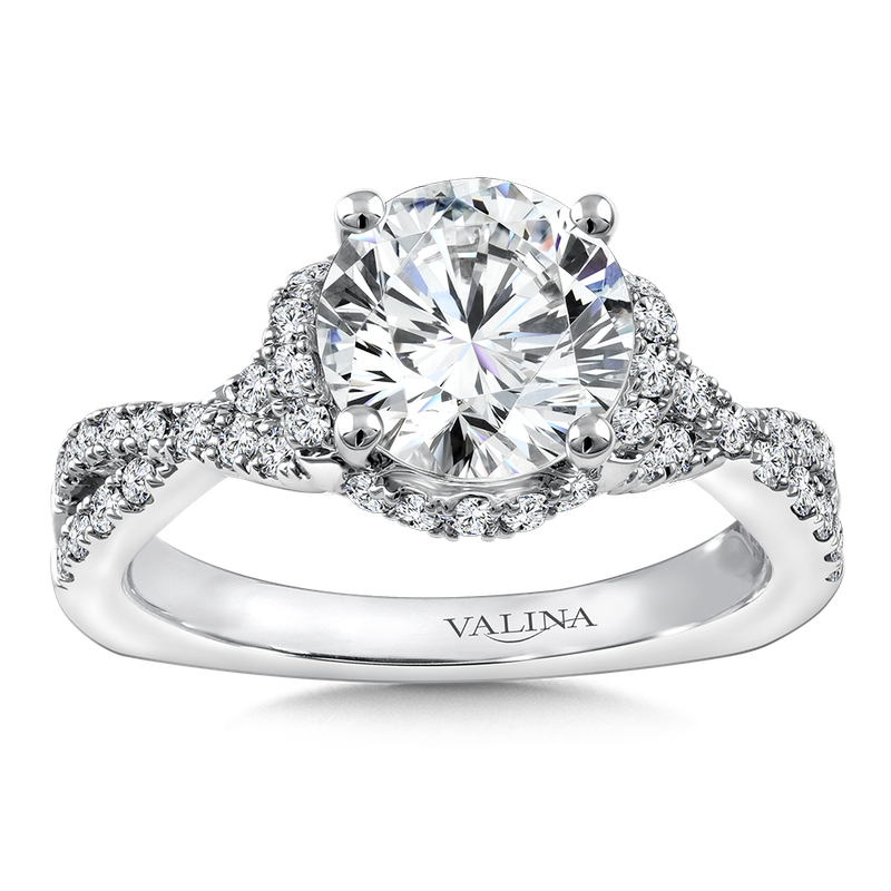 Valina Diamond Engagement Ring Mounting in 14K White Gold (.515 ct. tw.)