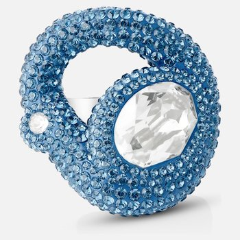 Tigris Ring, Aqua, Palladium plated
