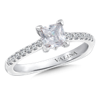Valina Diamond Engagement Ring Mounting in 14K White Gold (.17 ct. tw.)