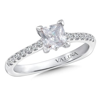 Diamond Engagement Ring Mounting in 14K White Gold (.17 ct. tw.)