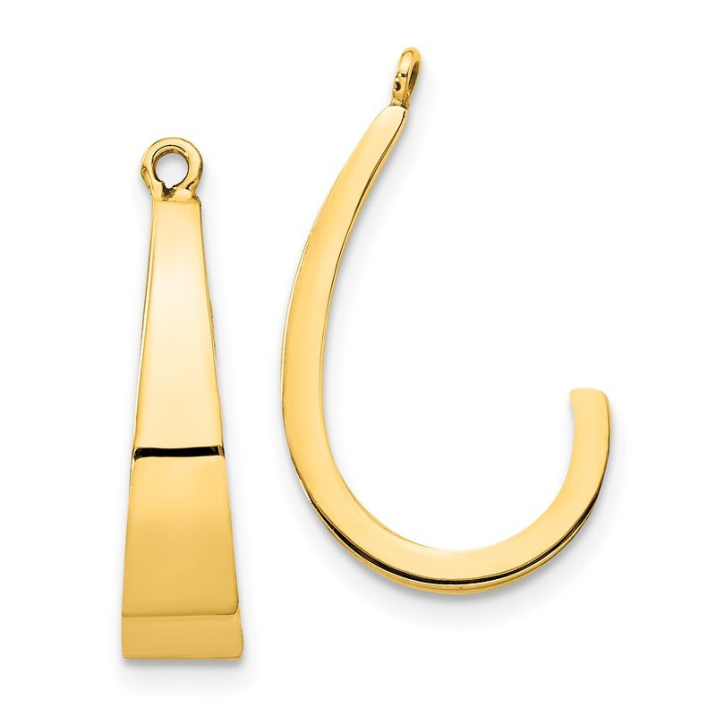 Quality Gold 14k Polished J-Hoop Earring Jackets