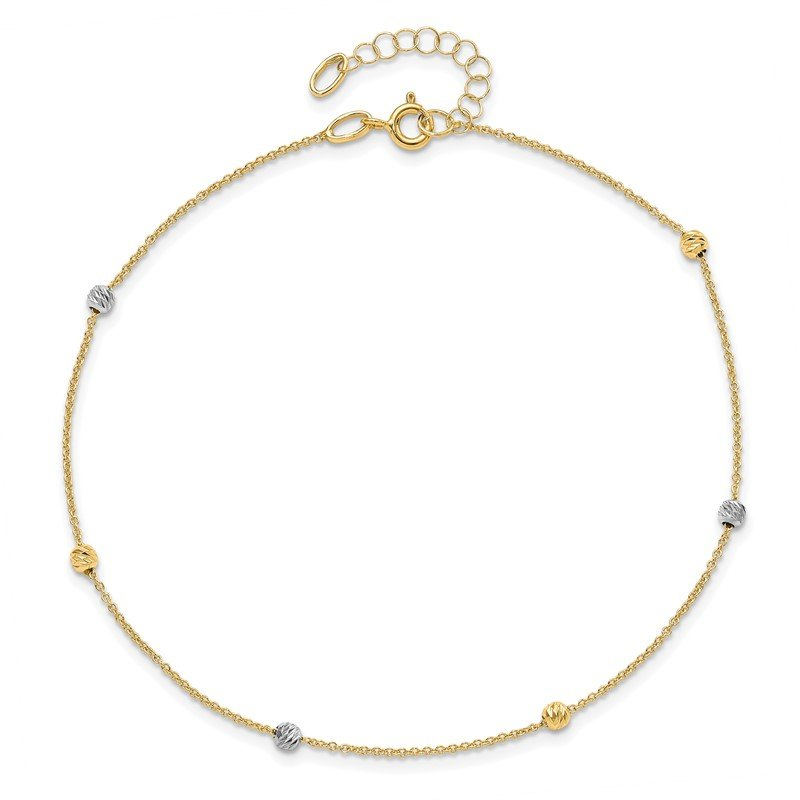 Leslie's Leslie's 14K Two-Tone Polished D/C with 1in ext. Anklet