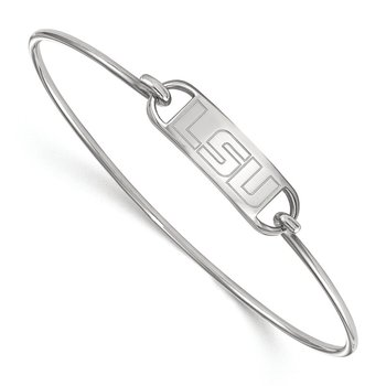 Sterling Silver Louisiana State University NCAA Bracelet