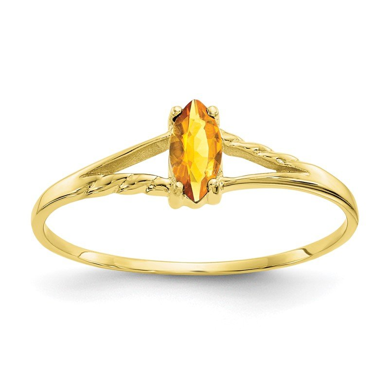 Quality Gold 10k Polished Geniune Citrine Birthstone Ring
