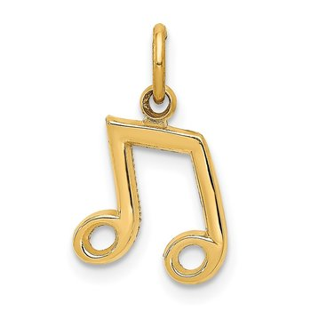 14K Musical Notes Charm