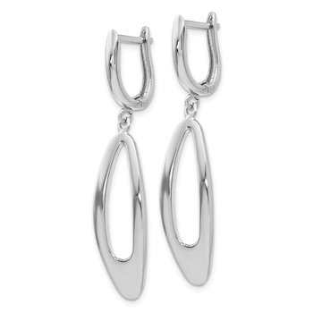 Leslie's 10K White Gold Polished Dangle Earrings