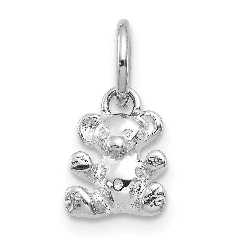 Quality Gold 14k White Gold Teddy Bear Charm
