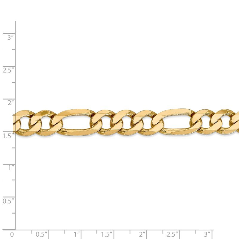 Quality Gold 14k 10mm Flat Figaro Chain
