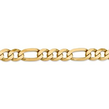 14k 10mm Flat Figaro Chain