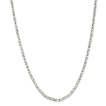 Sterling Silver 3mm Flat Anchor Chain Anklet