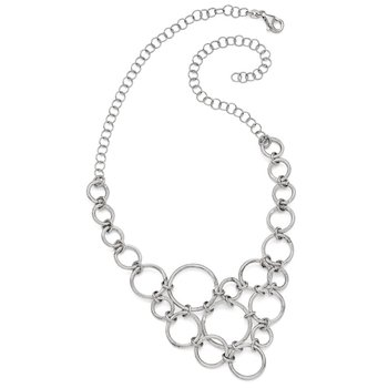 Leslie's Sterling Silver Polished & Diamond-cut Fancy Link Necklace