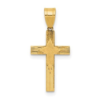14K Laser Designed Cross