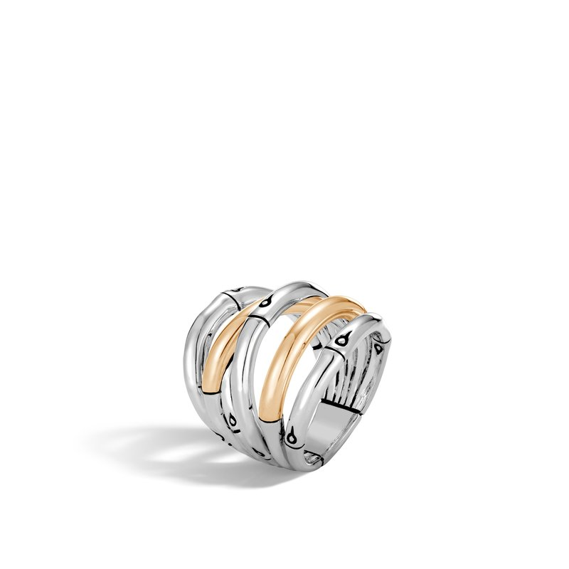 JOHN HARDY Bamboo Ring in Silver and 18K Gold