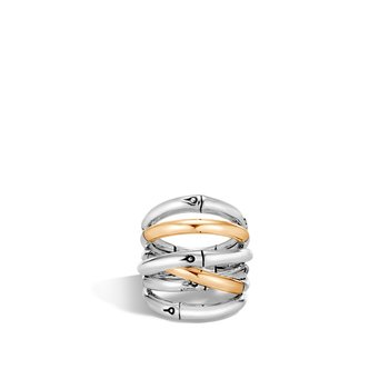 Bamboo Ring in Silver and 18K Gold. Available at our Halifax store.