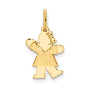 14k Mini Girl Kiss Charm
