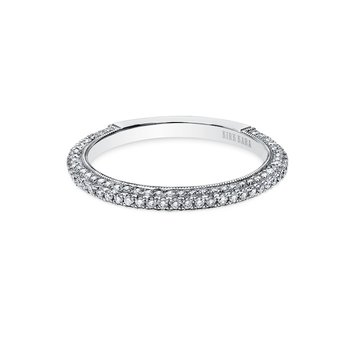 Elegant Milgrain Pave Diamond Wedding Band