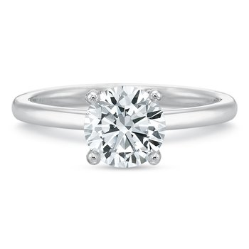 18K White Gold Solitaire for 1.00 ct round center