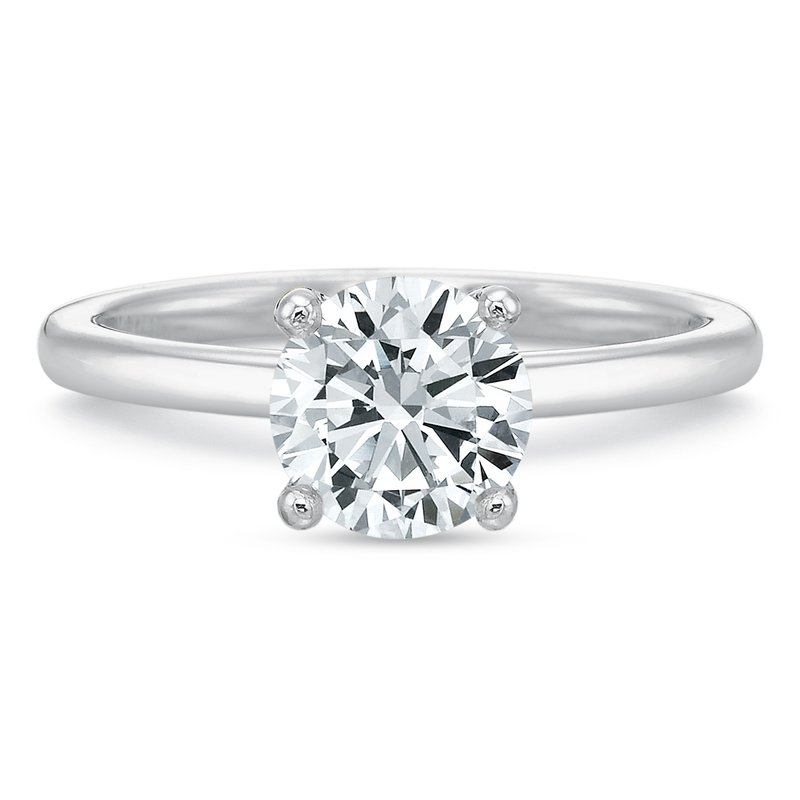 Precision Set 18K White Gold Solitaire for 1.00 ct round center