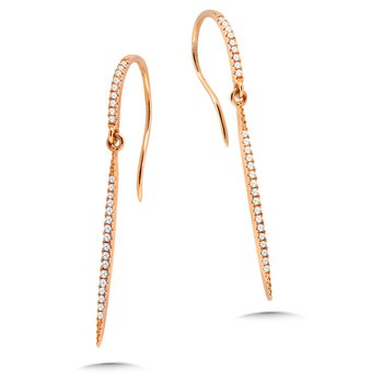 Dangling Hook Diamond Earrings