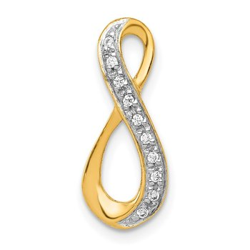 14k and Rhodium 1/20ct. Diamond Infinity Chain Slide