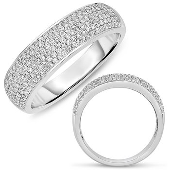 White Gold Pave Band 5.5mm wide