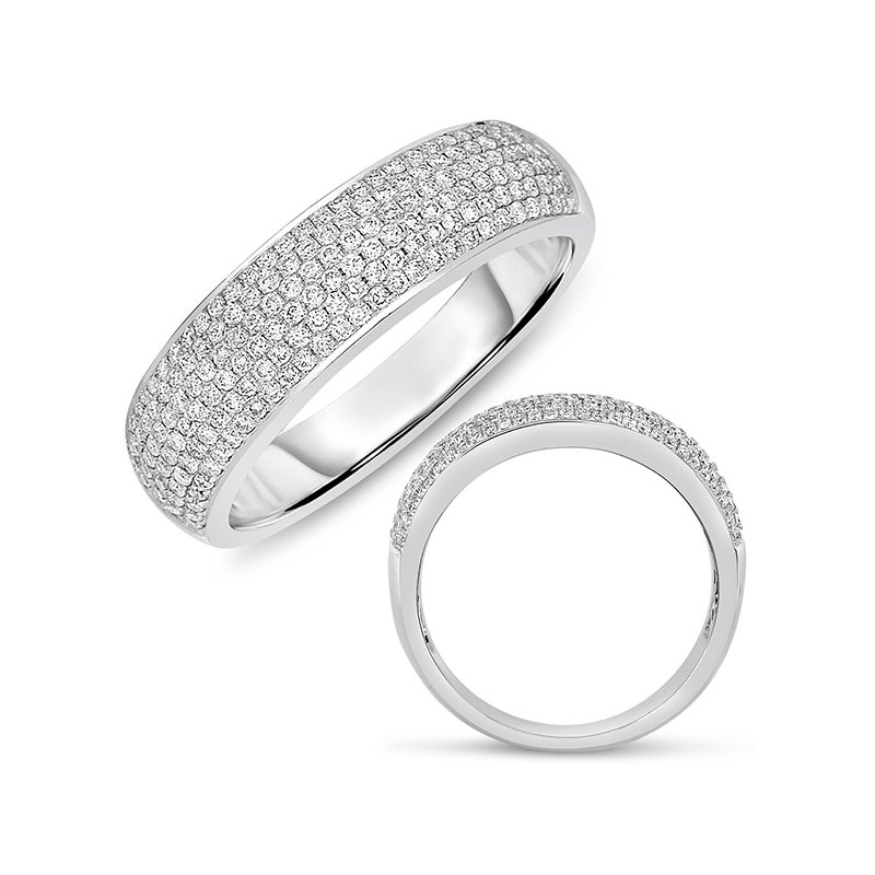 S. Kashi & Sons Bridal White Gold Pave Band 5.5mm wide