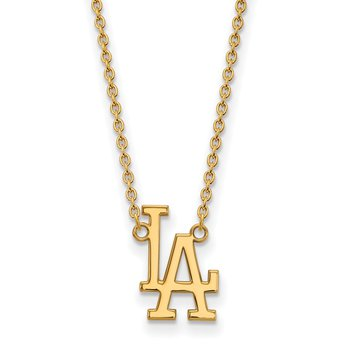 Gold Los Angeles Dodgers MLB Necklace