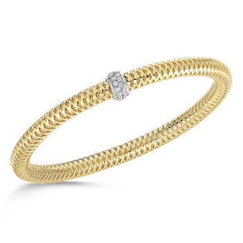 #26569 Of 18Kt Gold Diamond Bangle