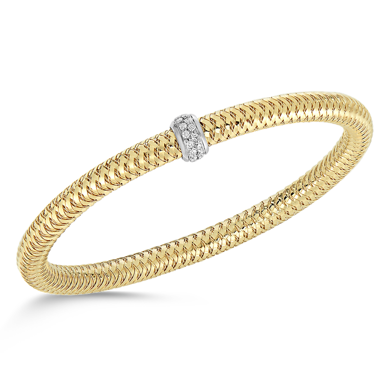 Roberto Coin  #26569 Of 18Kt Gold Diamond Bangle