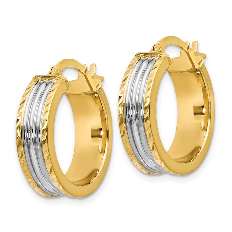 Leslie's Leslie's 14K w/White Rhodium Hoop Earrings