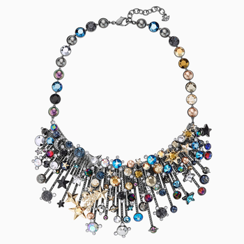 Nocturnal Sky Necklace, Multi-colored, Mixed metal finish