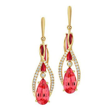 Padparadscha Earrings-CE4183YPD