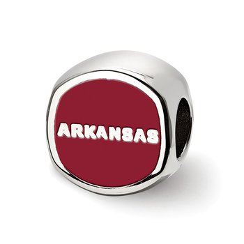 Sterling Silver University of Arkansas NCAA Bead