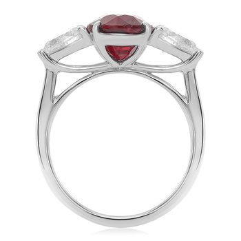 Platinum Ruby Ring