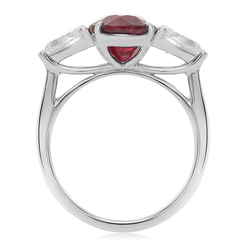 Roman & Jules Platinum Ruby Ring