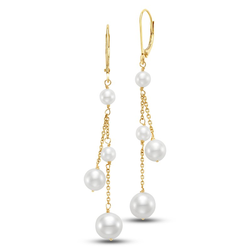 Mastoloni Pearls Cecily Chain Drop Earrings