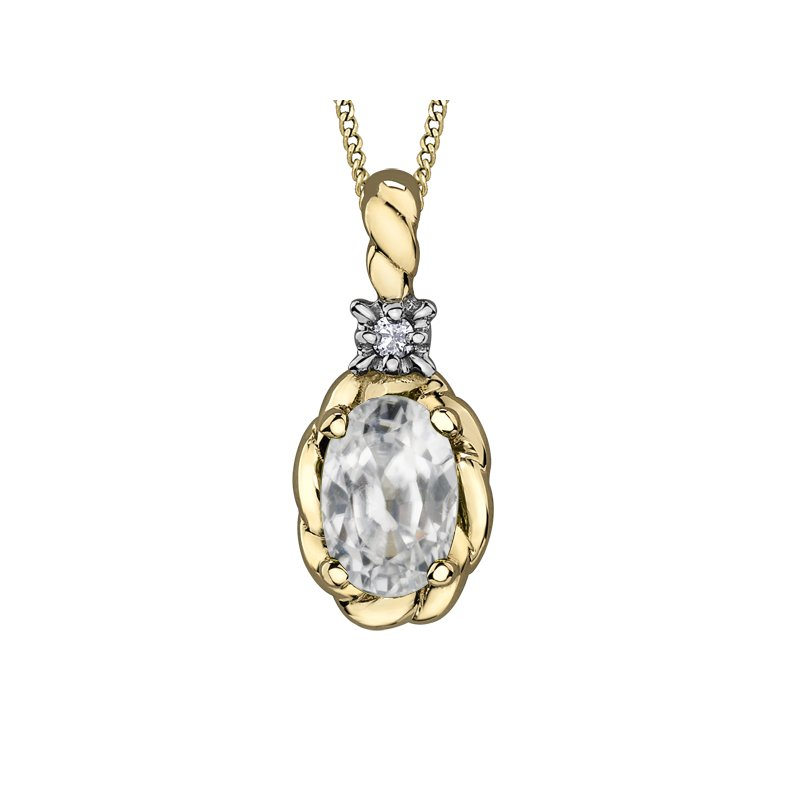 Diamond Days White Topaz Pendant