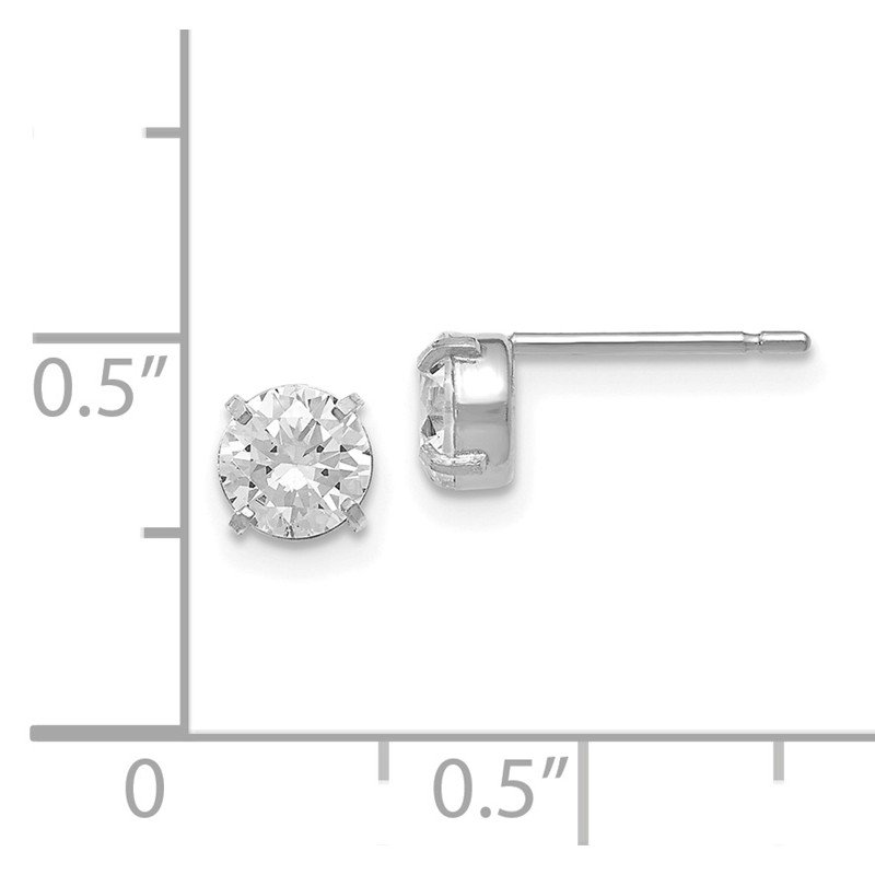 Leslie's Leslies 14k White Gold CZ Stud 5.0mm Earrings
