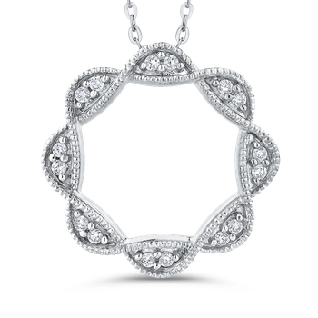 1/10 Ct Diamond Fashion Pendant with Chain