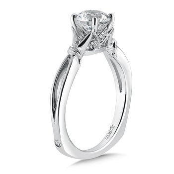 Inspired Vintage Collection Solitaire Engagement Ring in 14K White Gold with Platinum Head (1ct. tw.)