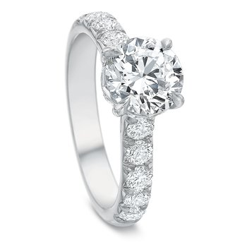 18K White gold Semi Mount for 1.50-2.50 ct center